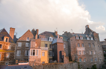st malo: Ancient town of St Malo in Brittany, France.