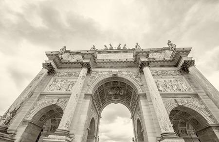 carrousel: Arc de Triomphe de Carrousel in Paris.