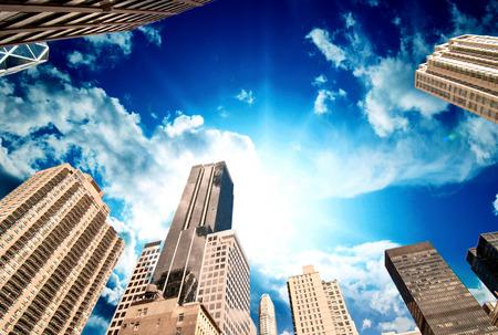 catholism: New York City. Wonderful upward view of Manhattan Skycrapers.