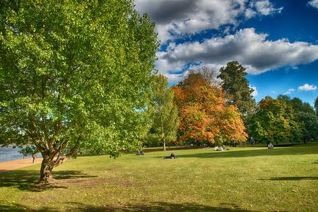 hyde: Beautiful Hyde Park in London.