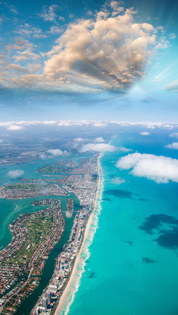 Aerial view of Miami Beach. photo