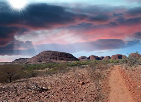 オーストラリアのアウトバック、ノーザン ・ テリトリーの見事な風景です。 写真素材