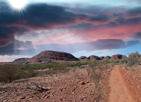 kings canyon national park: Stunning landscape of Australian Outback, Northern Territory.