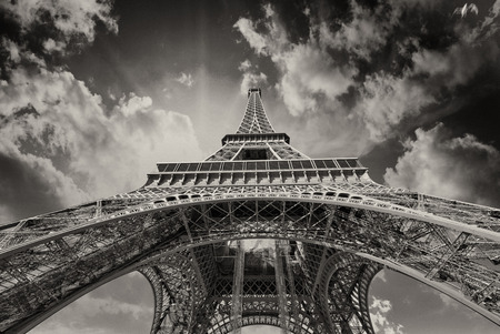 Beautiful view of Eiffel Tower in Paris. photo