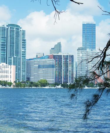 key biscayne: Miami Landscape from Key Biscayne. Stock Photo