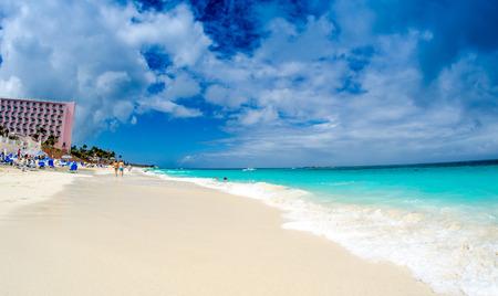 oceanfront: Beautiful oceanfront in Nassau, Bahamas. Stock Photo