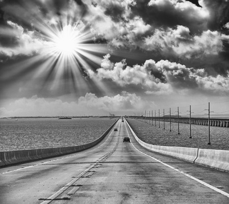 Infinite road to the ocean. photo