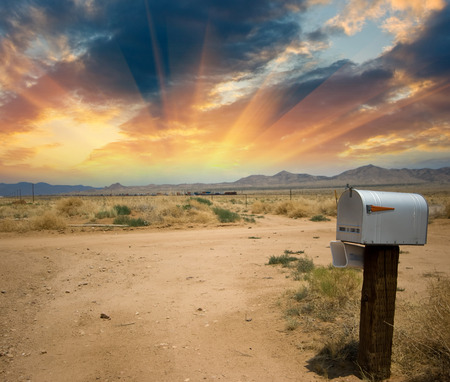 Old Mailbox in the countryside of US.