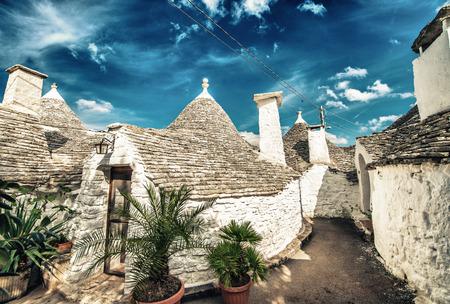 trulli: Unique quaint Alberobello - trulli village, Italy.