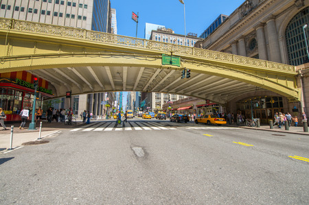 pershing: NEW YORK CITY - MAY 23, 2013: Pershing Square Building in front of Grand Central. The building is a 24-story office tower built in 1923, located at the intersection of Park Avenue and 42nd Street