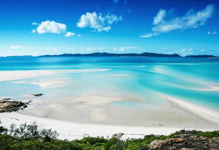 Wonderful beach of Queensland, aerial view. Imagens