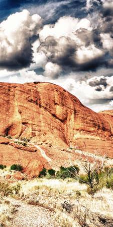 tjuta: Beautiful Australian Canyon in Northern Territory - The Outback.