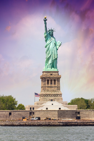 Amazing view of Statue of Liberty in New York. photo
