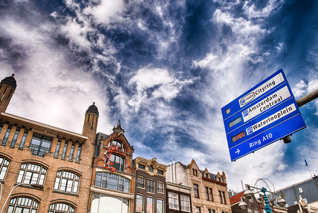 Amsterdam. City streets signs and directions. photo