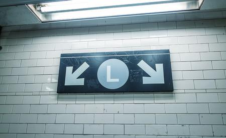 underpass: Subway station walls.