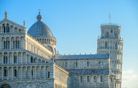 Pisa, Tuscany. Detail of Cathedral in Square of Miracles. photo