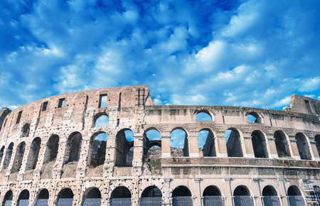 magnificence: Rome, Italy. Magnificence of Colosseum on a beautiful sunny day.
