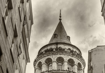 magnificence: Magnificence of Galata Tower in Beyoglu, Istanbul, Turkey.