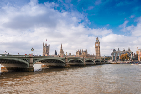 magnificence: Magnificence of Westminster Bridge and Houses of Parliament, London.