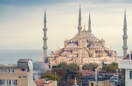magnificence: Magnificence of Blue Mosque, Istanbul.