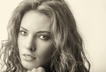 caucasian girl: Beautiful caucasian girl posing for camera.