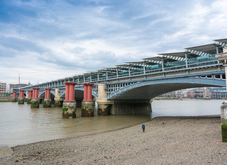 blackfriars bridge: Blackfriars Bridge, London. Stock Photo
