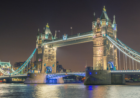 magnificence: London, England. The Tower Bridge magnificence at night.