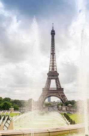 trocadero: The Eiffel Tower from Trocadero Park, Paris.