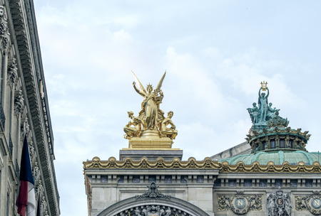 architectural  detail: Opera in Paris, architectural detail.