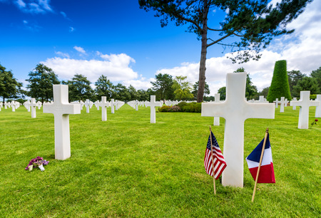 normandy: American cemetery in Normandy, France.