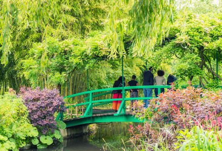 France Giverny Monets garden on a spring day. photo