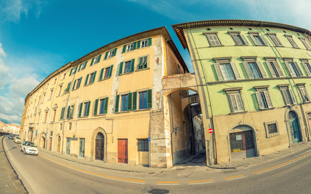 arno: Medieval buildings of Pisa along Arno River - Tuscany, Italy. Editorial