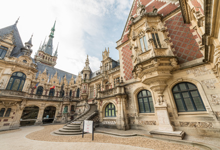 alexander the great: Benedictine palace in neo-Gothic and neo-renaissance styles built in 1852-1942 in Fecamp by Alexander the Great. Editorial
