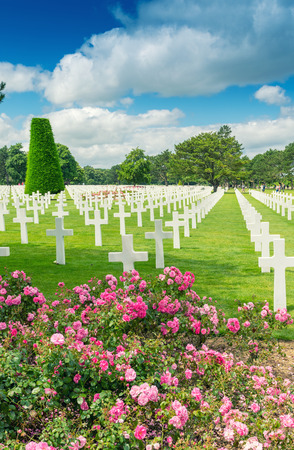 normandy: American cemetery in Normandy.
