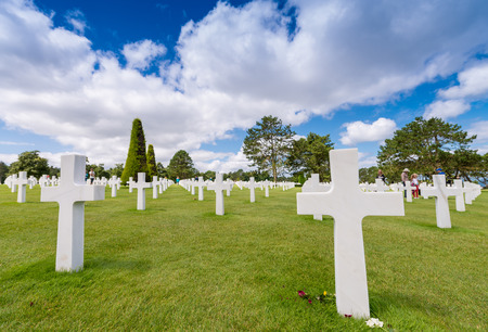 national military cemetery: American cemetery in Normandy, France.