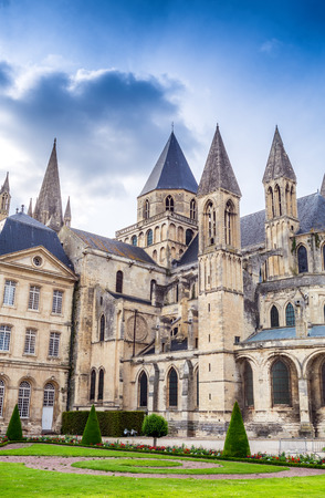 Abbaye aux Hommes (Mens Abbey) in Caen, Calvados, Normandy, France. Stock Photo