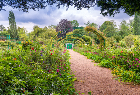 monet: France Giverny Monets garden on a spring day. Editorial
