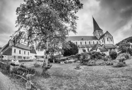 abbaye: Church Saint-Martin-de-Boscherville in Abbaye romane normande Saint Georges de Boscherville, Normandy, France.