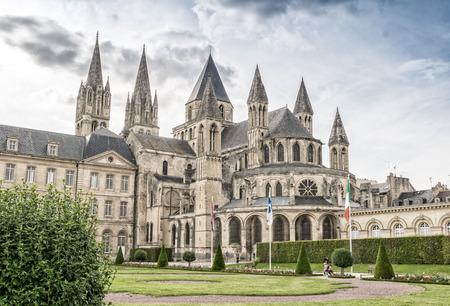 Caen. Normandy. Abbey exterior and gardens.