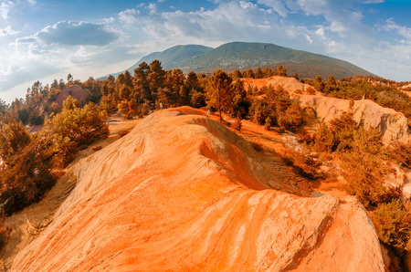 the silence of the world: Red Cliffs in Roussillon, Provence, France.