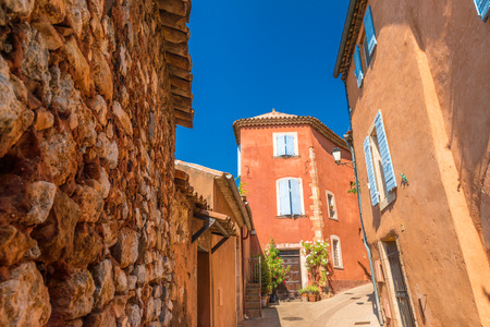 roussillon: Homes of Roussillon, France. Stock Photo
