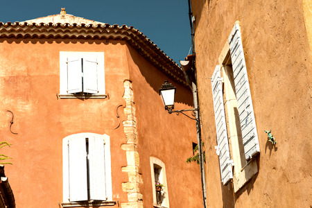 roussillon: Roussillon, Provence - France. Famous Red Ancient Homes.