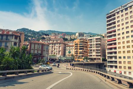 montecarlo: MONACO, MONTE CARLO - JULY 22, 2013: Street view of the city of Montecarlo in the Principality of Monaco. Editorial