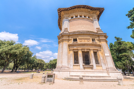 annually: ROME - JUNE 14, 2014: Tourists visit Villa Borghese. The city attracts more than 10 million people annually.