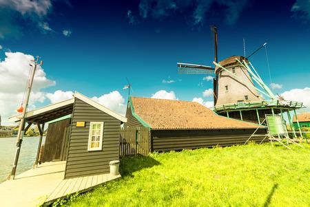 mills: Wind mills in Zaanse Schans, Netherland. Holland.