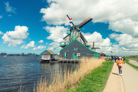 Wind mills of Netherlands. photo