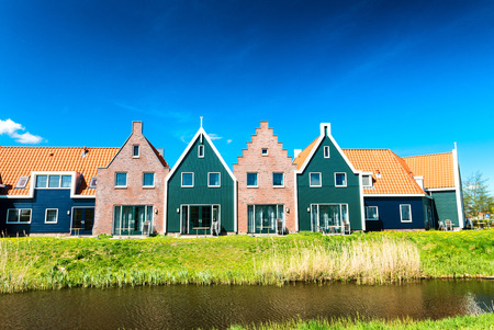volendam: Homes of Volendam on a sunny day.