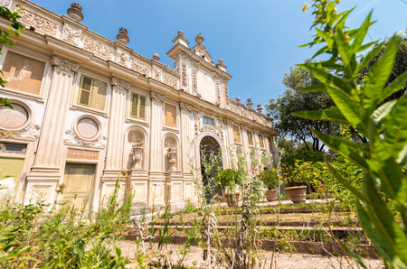 villa borghese: Villa Borghese park in Rome.