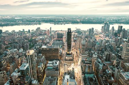 Horizon incroyable de Manhattan - New York Gratte-ciel.