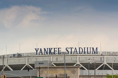 yankees: BRONX, NEW YORK - JUNE 11: Yankee Stadium sports building. Exterior view on June 11, 2013 in the Bronx, New York